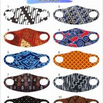 masker scuba custom full print batik